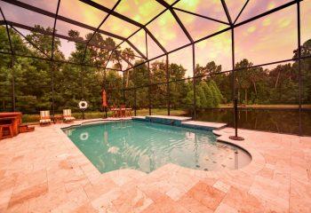 New Orleans Pool Builders - Screened Inground Pool